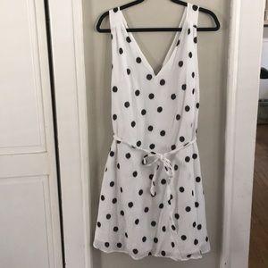 Dresses & Skirts - White Polka Dot Dress